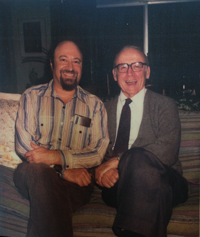 David Berliner, left, and his mentor Nate Gage circa 1975.