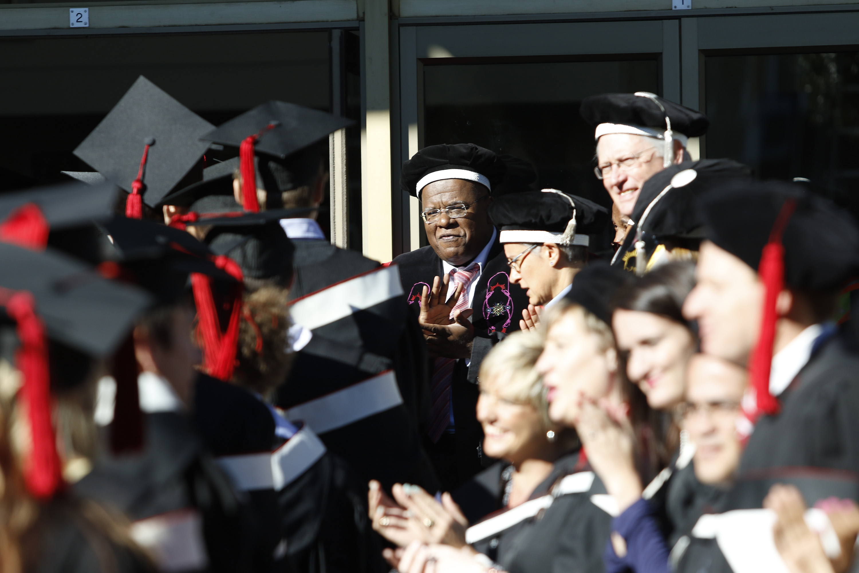 Jonathan Jansen presides over the 2015 commencement ceremony at University of the Free State.