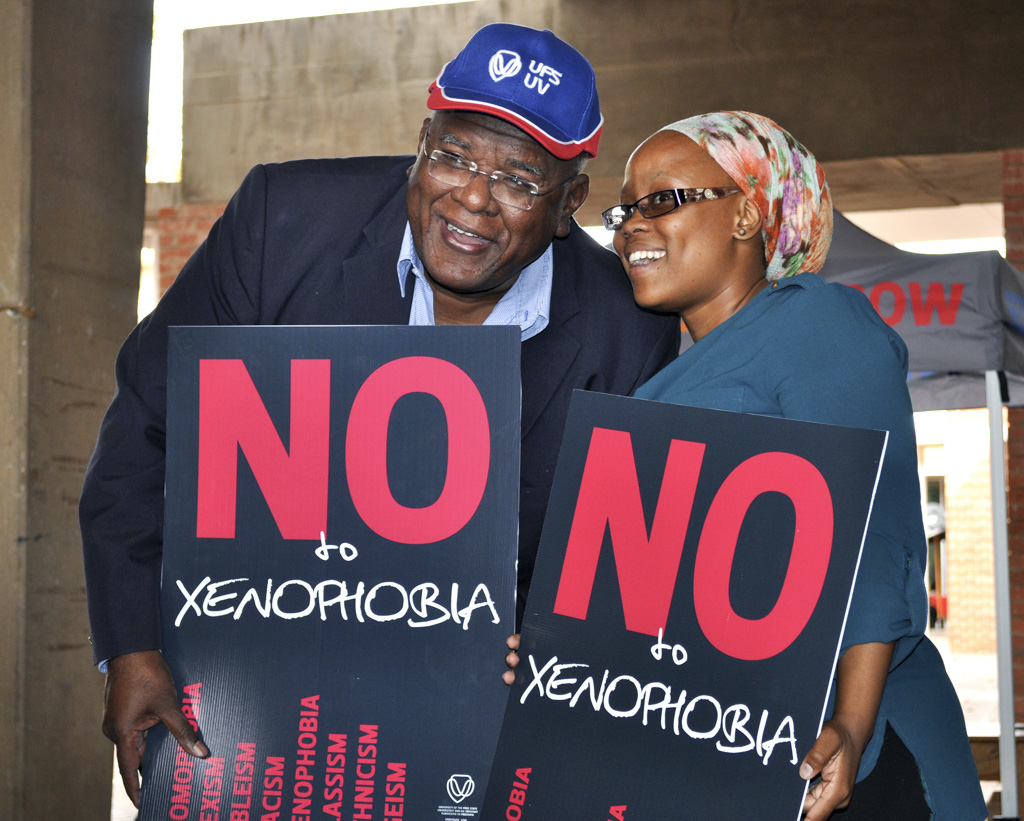 Jonathan Jansen encourages students to hold events against racism, sexism, homophobia and other forms of prejudice.