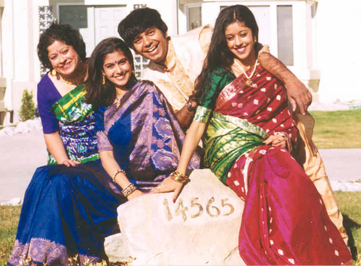 Piya Sorcar with her mother, father, and syster.