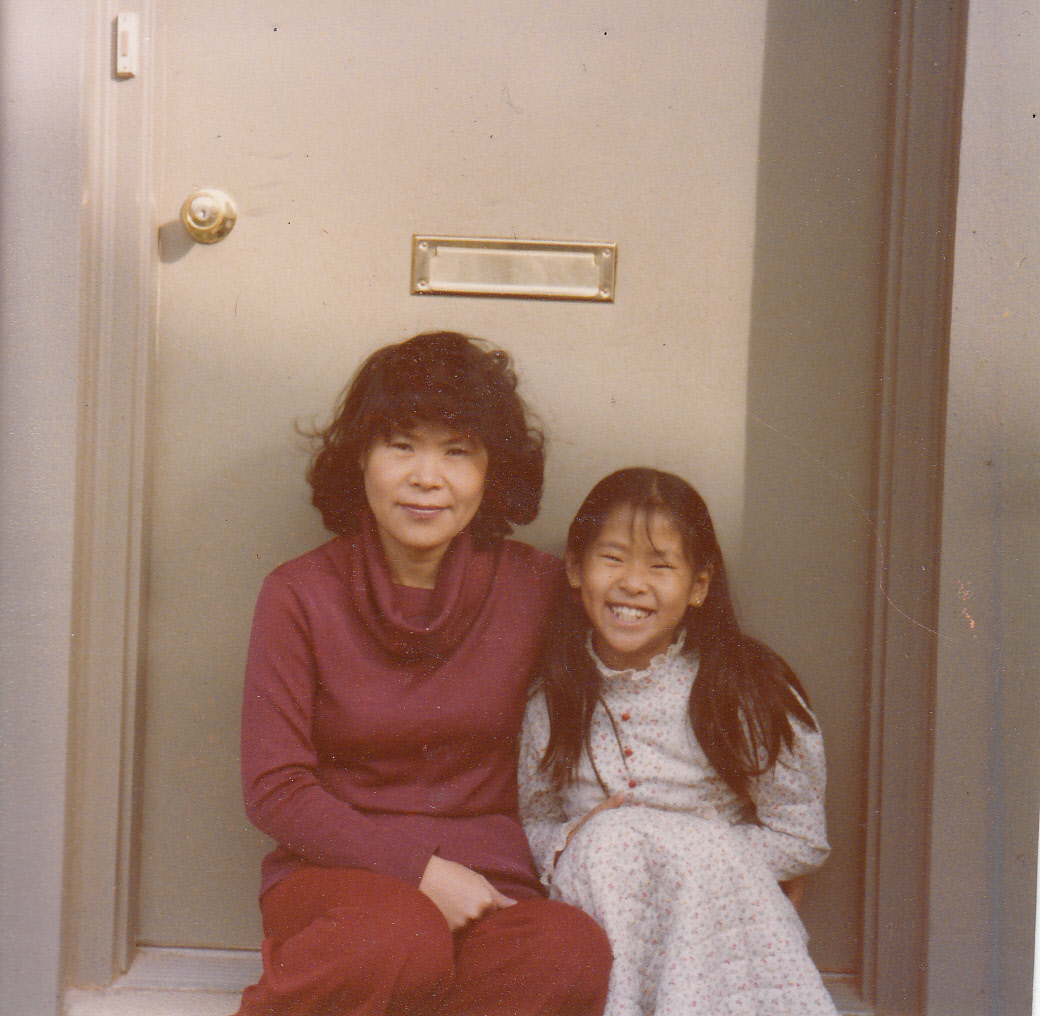 Helen Kim, as a child at home in Maryland with her mother, says her parents' compassion for others inspired her commitment to social justice.