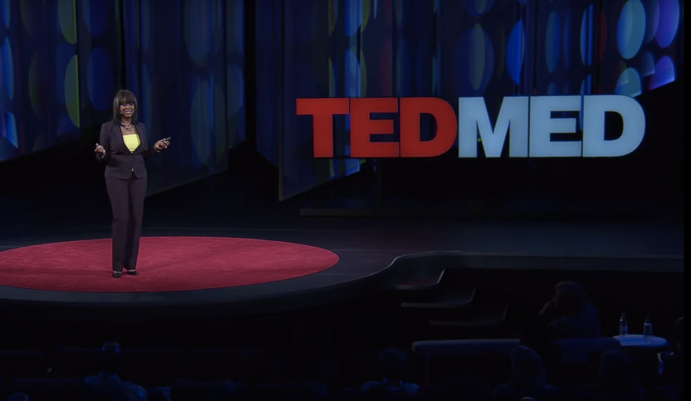 Carla Pugh speaking at TEDMED conference