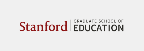 Stanford Graduate School of Education signature (horizontal full color with light gray background)