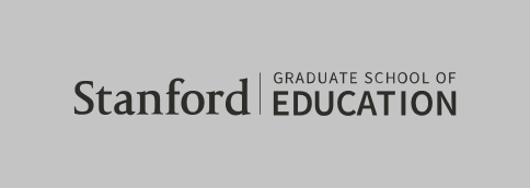 Stanford Graduate School of Education signature (horizontal black color with gray background)