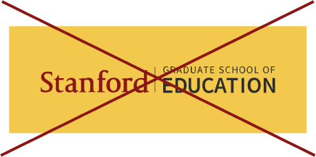 Stanford Graduate School of Education signature (horizontal full color with yellow background crossed out)