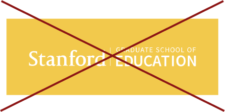 Stanford Graduate School of Education signature (horizontal white color with yellow background crossed out)