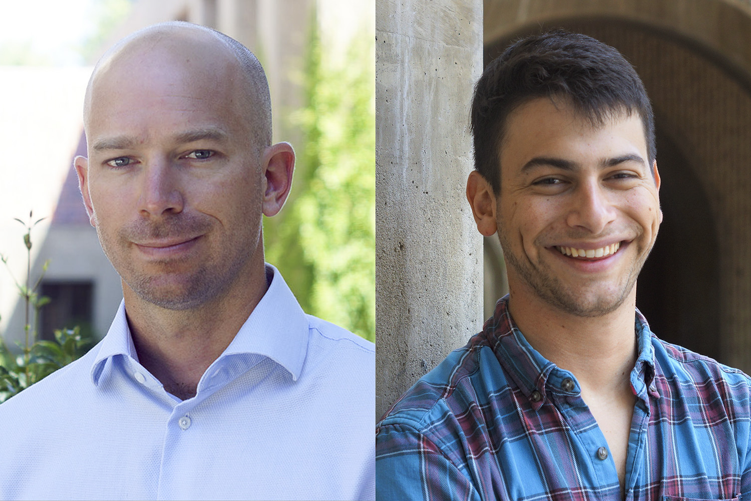 Benjamin Domingue, left, and Sam Trejo of Stanford's Graduate School of Education