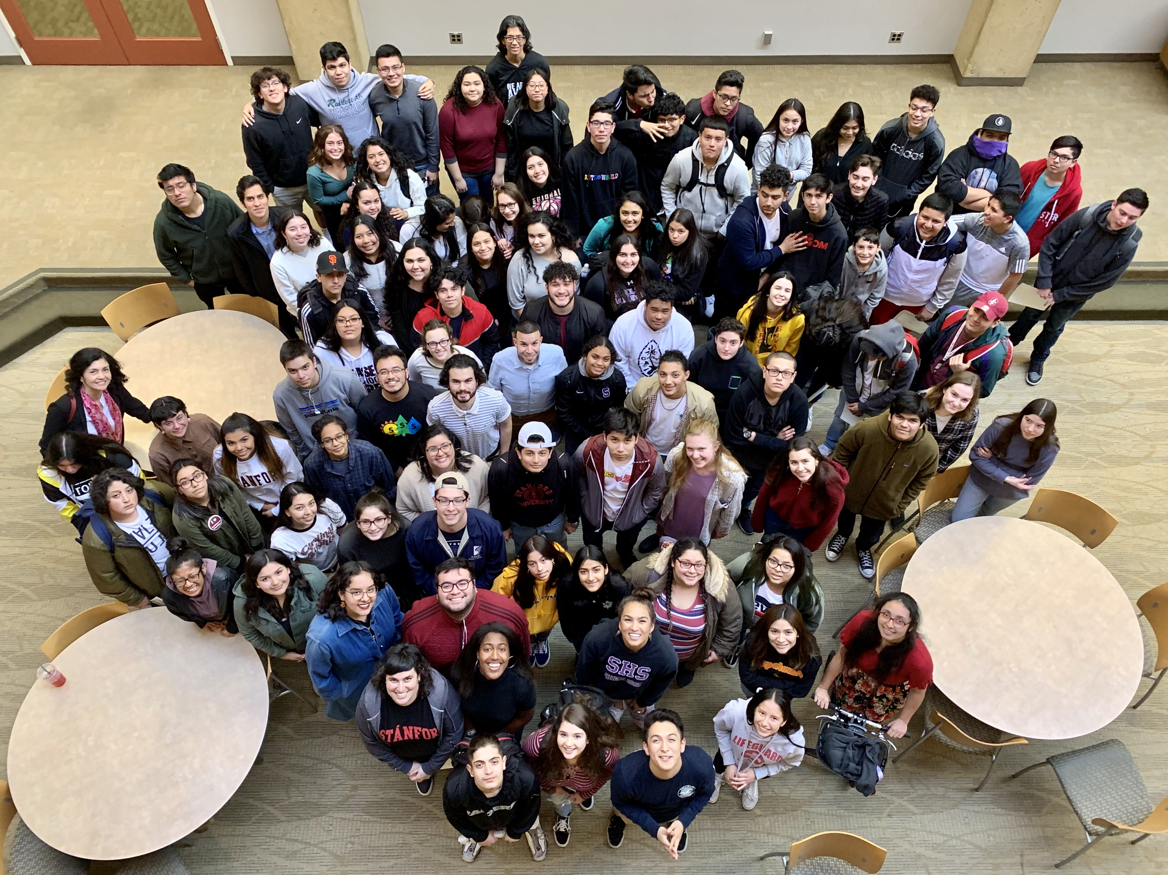 Stanford and Sequoia students together on campus