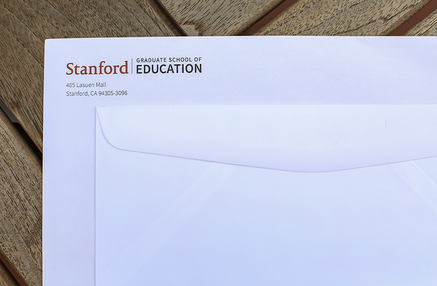 Photo of envelops with GSE logo