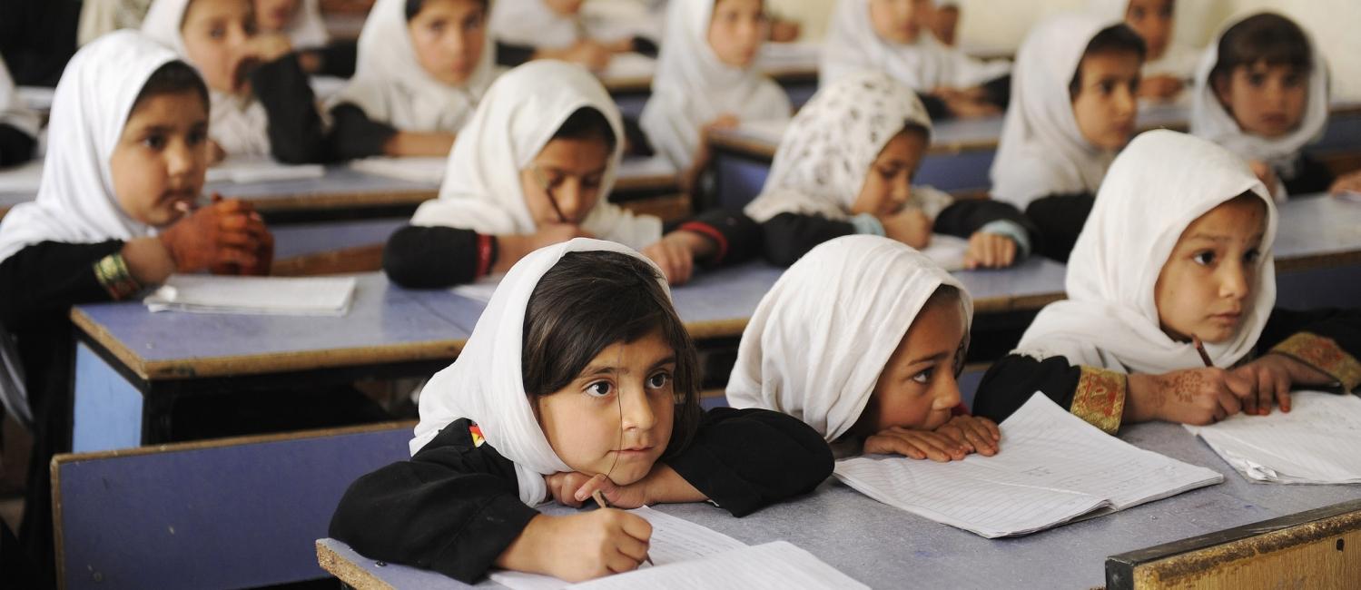 Afghan school children.