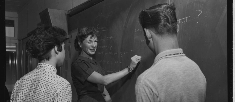 Teacher in STEP program in 1959