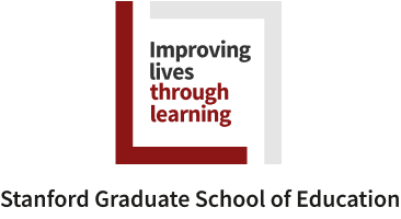 Improving lives through learning signature (full color) with the words Stanford Graduate School of Education below