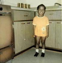 Kimberly Gordon Biddle, age 3, in rural Illinois.