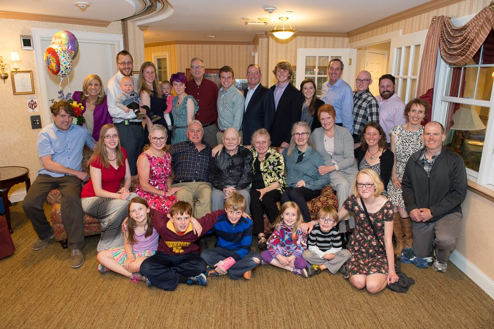 "Henry ""Tom"" James celebrates his 100th birthday with his family. (Photo courtesy of the James family)"