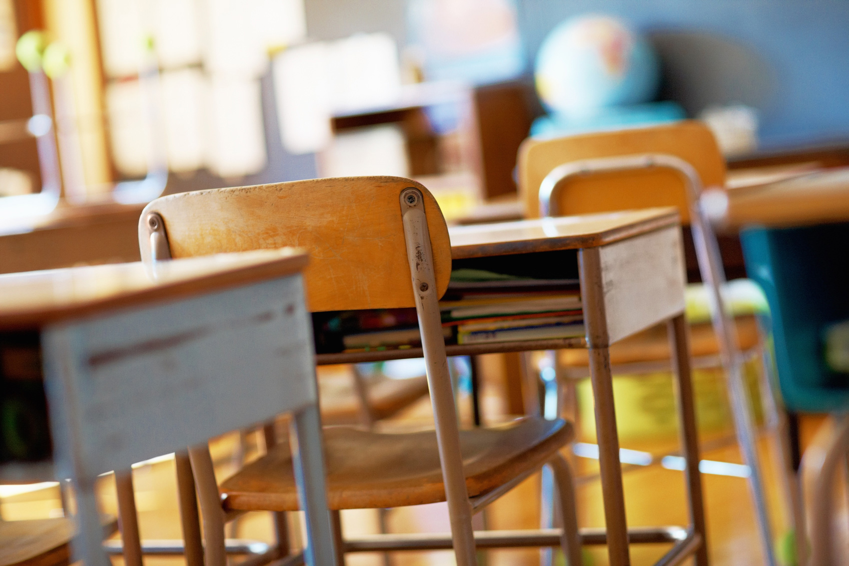 Picture of empty desks