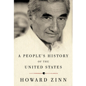 Photo of Howard Zinn's 'A People's History of the United States'