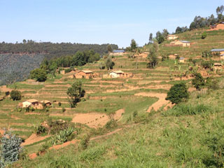 Houses in the Gicumbi district, where Jolly and Flora live. (Photo by Elliott Friedlander)