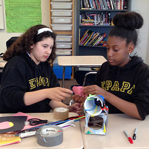 Students from the d.Loft STEM Learning program (Photo courtesy of Maureen Carroll)