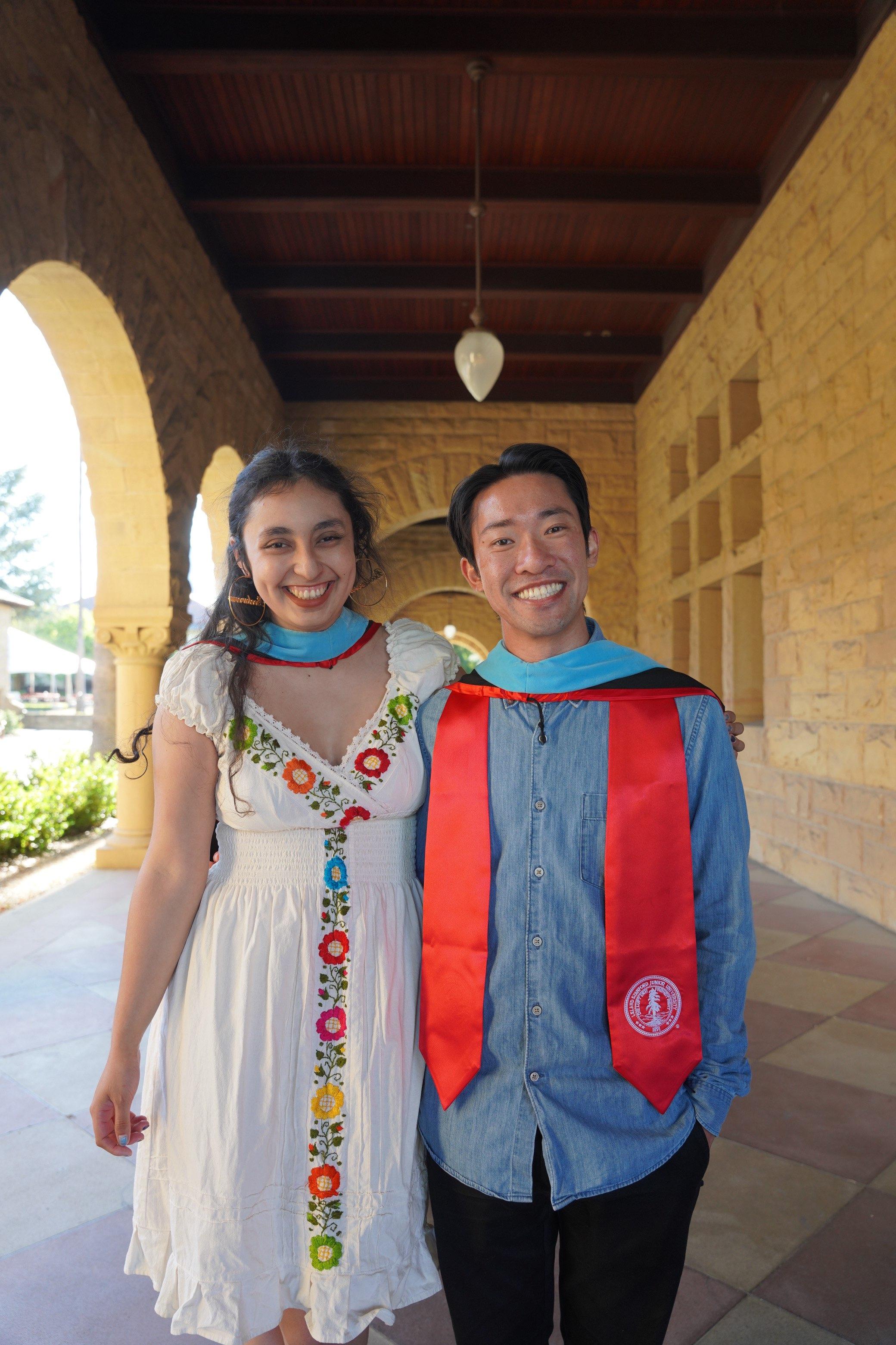 Photo of STEP students Maria Bojorquez and Kelvin Mak