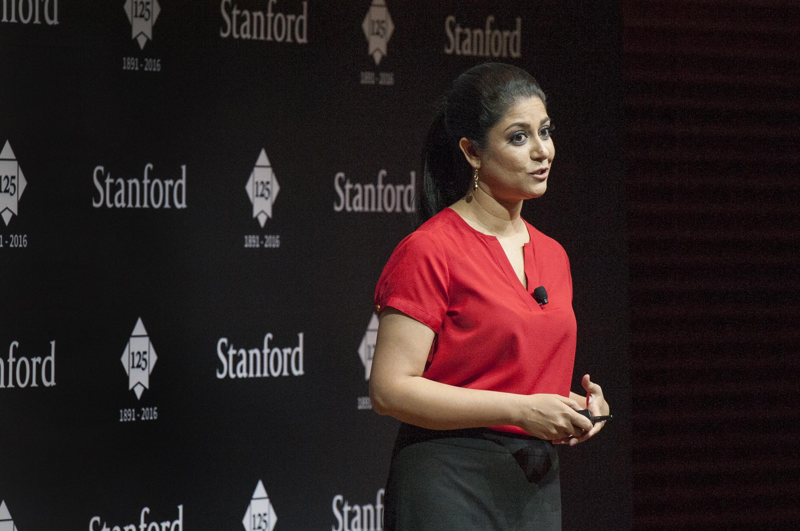 Piya Sorcar doing a presentation