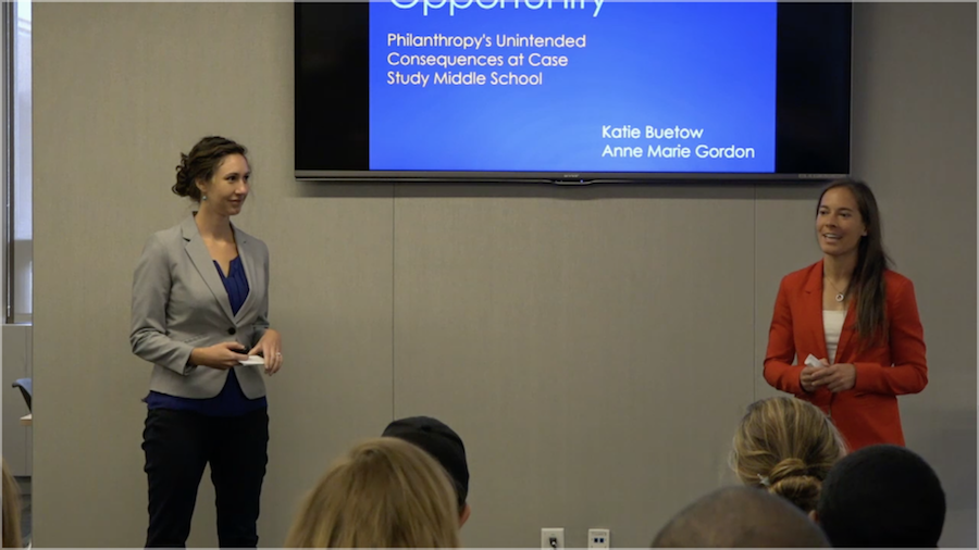 Screenshot of Katie Buetow & Anne Marie Gordon presenting
