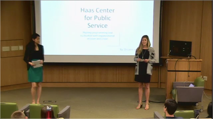 Screenshot of Devanie Helman & Annabel Wong presenting