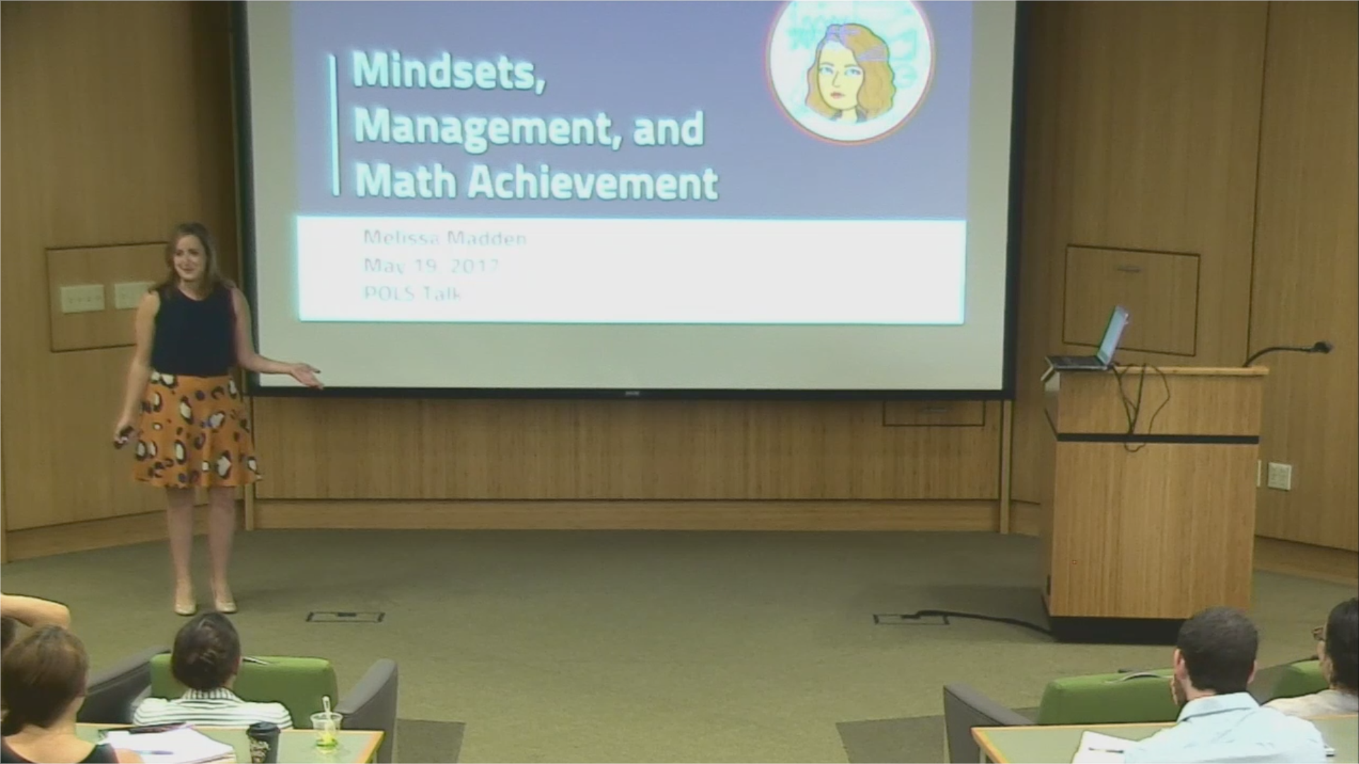 Screencap of Melissa Madden beginning the presentation.