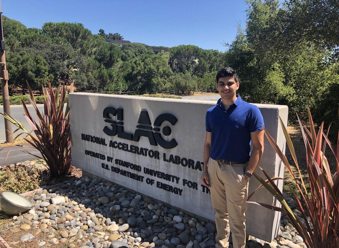 Photo of Shadi at SLAC