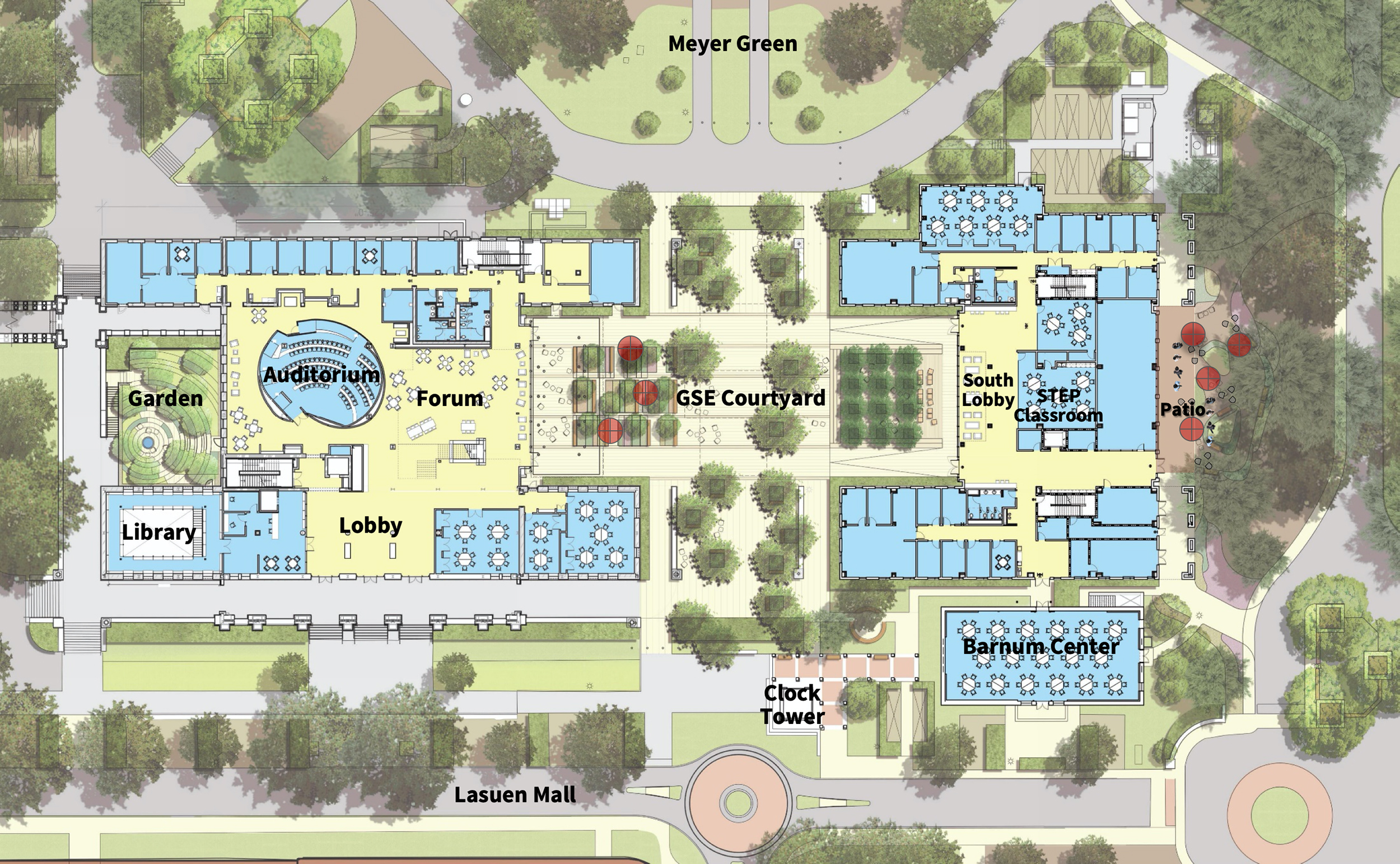 Graphic showing an overview of the new GSE Site plan