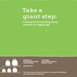 The front cover of the report Take a Giant Step.