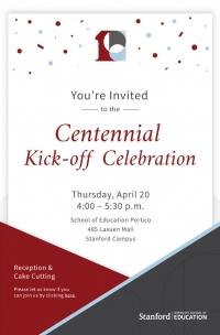 GSE Centennial Kick-off Celebration Invitation