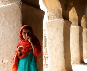 Preschooler in rural Pakistan