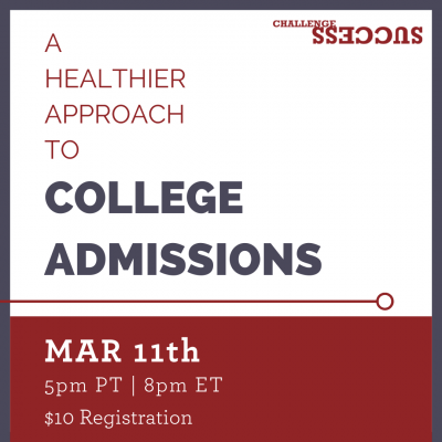 A Healthier Approach to College Admissions