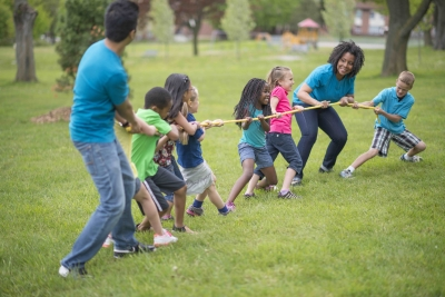 Photo of summer camp tug-of-war