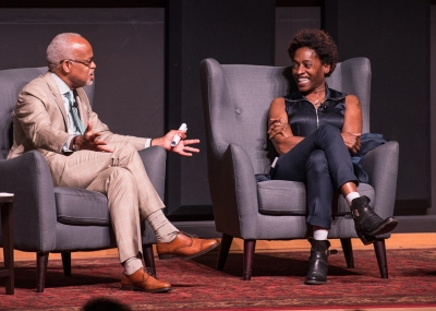 Picture of Harry Elam and Jacqueline Woodson by Steve Castillo