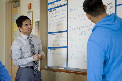 High school teacher Hai Tran, a former Knowles fellow