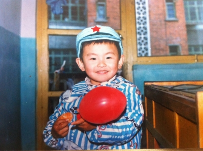 Peng Wu as a boy in China.