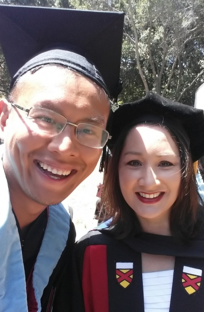 Peng Wu, left, with Professor Christine Min Wotipka.