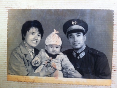 Peng Wu with his parents. (All photos courtesy of Wu.)