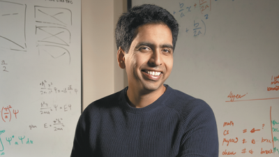 Sal Khan founded the Khan Academy, an online platform offering free courses in everything from algebra to world history.