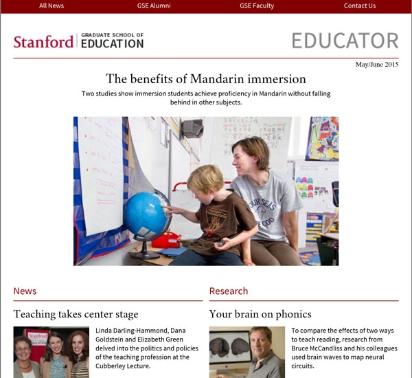 Stanford GSE Educator Vol. 2 Issue 3