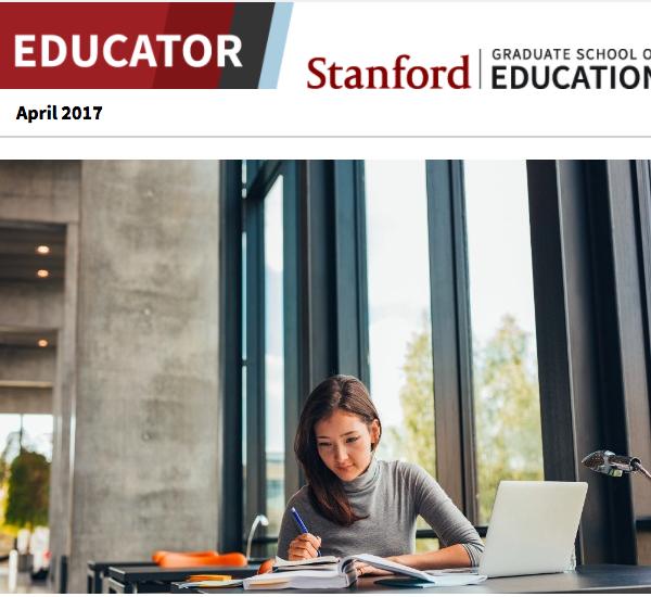 Screenshot of April 2017 newsletter