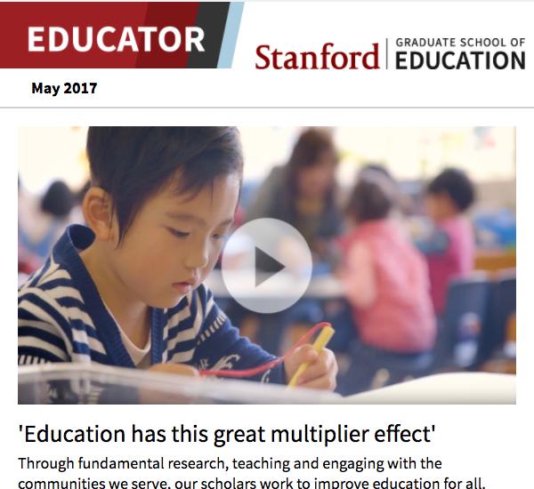 Screenshot of May 2017 newsletter
