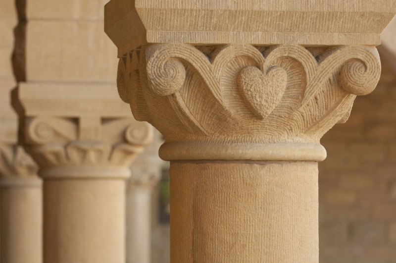 Stanford building columns.