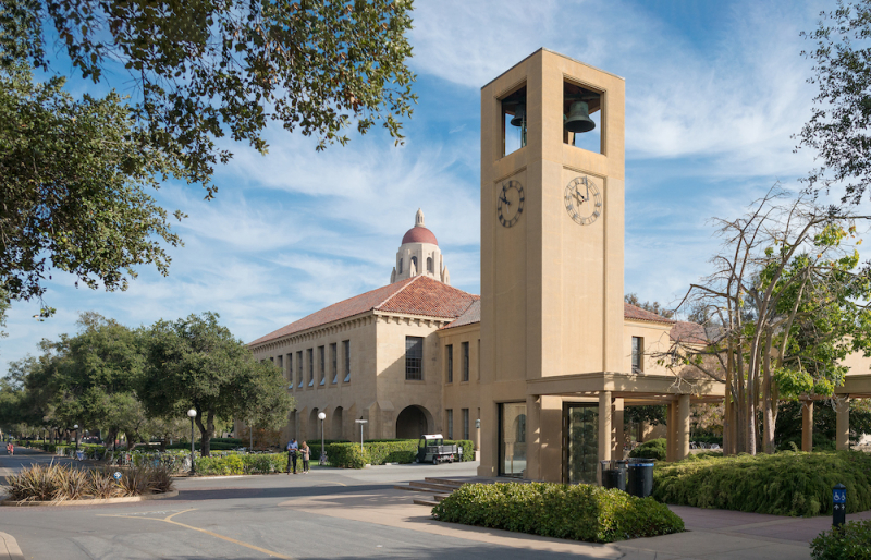 Photo of Clock tower on Stanford campus