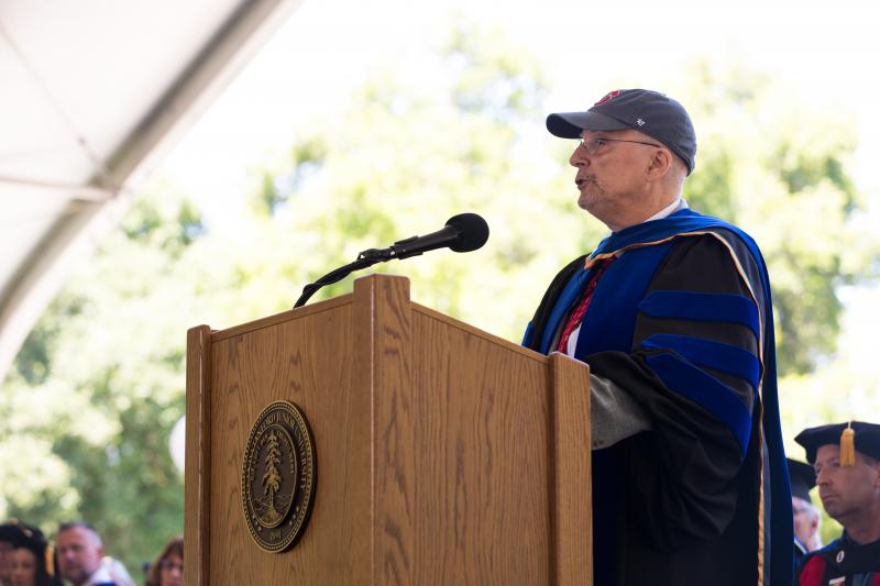 Commencement speaker Eamonn Callan, professor emeritus