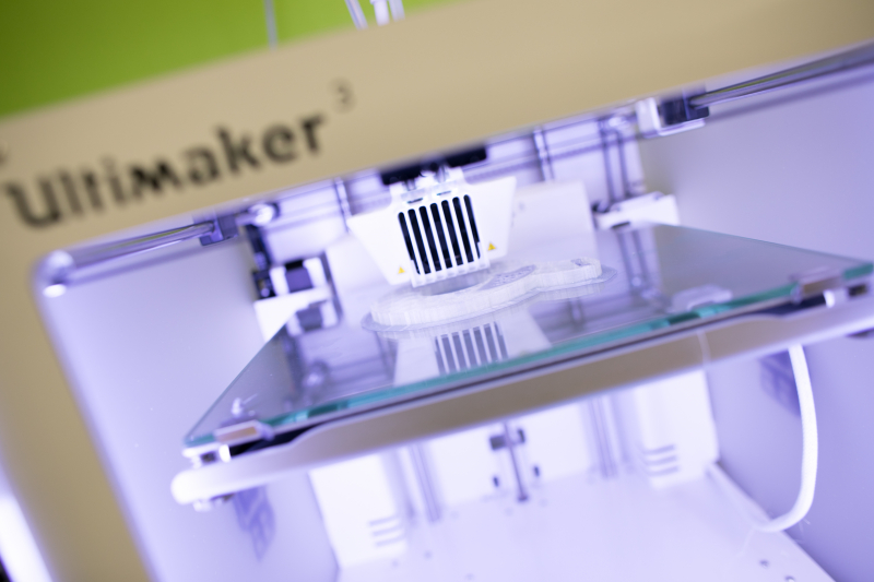 One of the Makery's two 3D printers