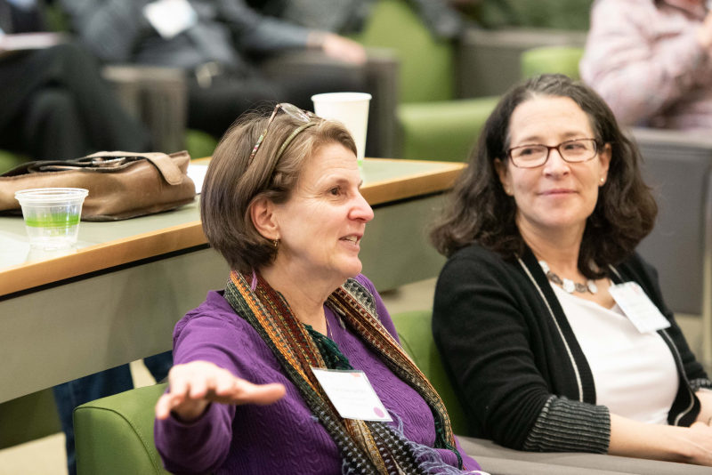 Maria Hernandez (left) is a math instructor at the North Carolina School of Science and Mathematics. Rachel Levy (right) is deputy executive director of the Mathematical Association of America.
