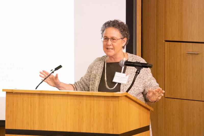 Linda Darling-Hammond, GSE professor emerita and president of the California Board of Education, gave opening remarks.