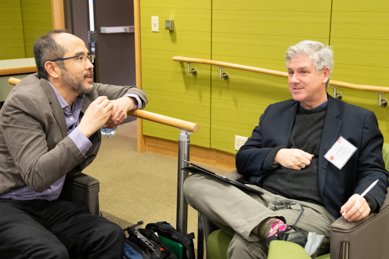 Francis Su (left), former president of the Mathematical Association of America, is a mathematics professor at Harvey Mudd College. Rob Gould (right), a statistics professor at UCLA, oversaw curriculum development for the LA schools' Intro to Data Science course.